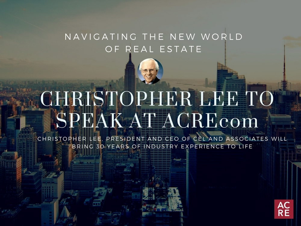 Christopher Lee to Speak at ACREcom