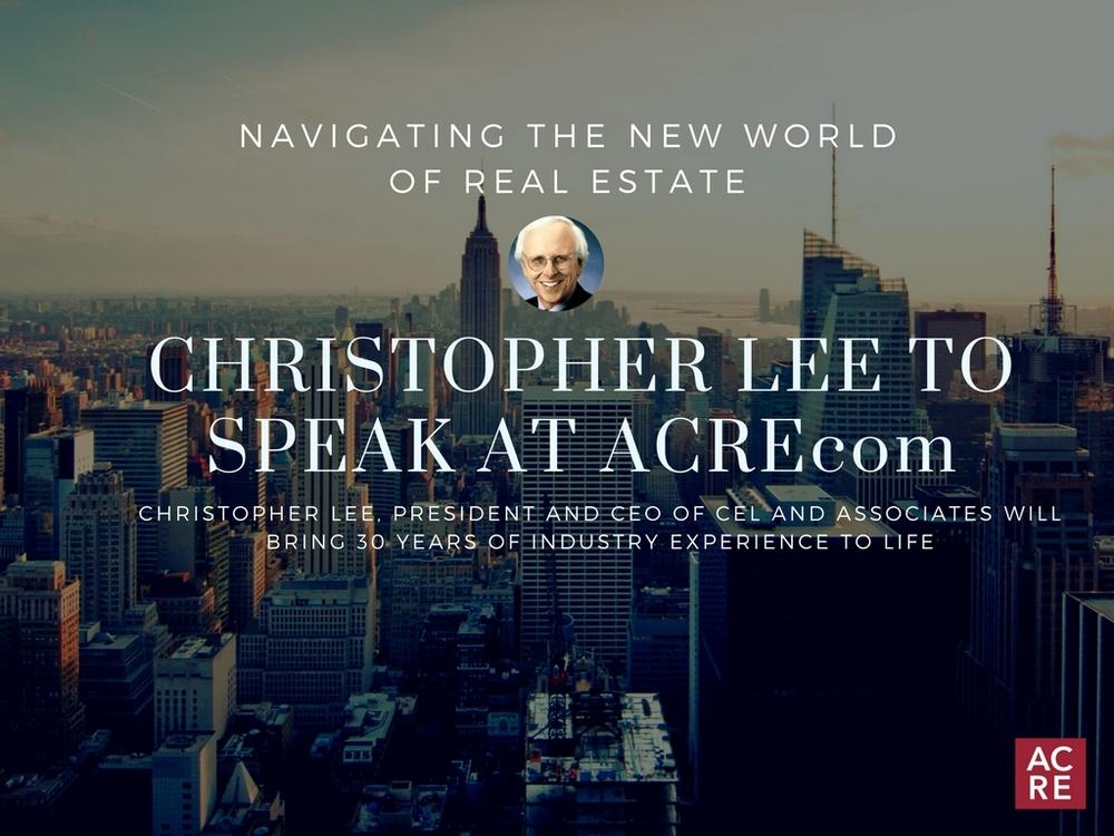 Christopher Lee to Speak at ACREcom
