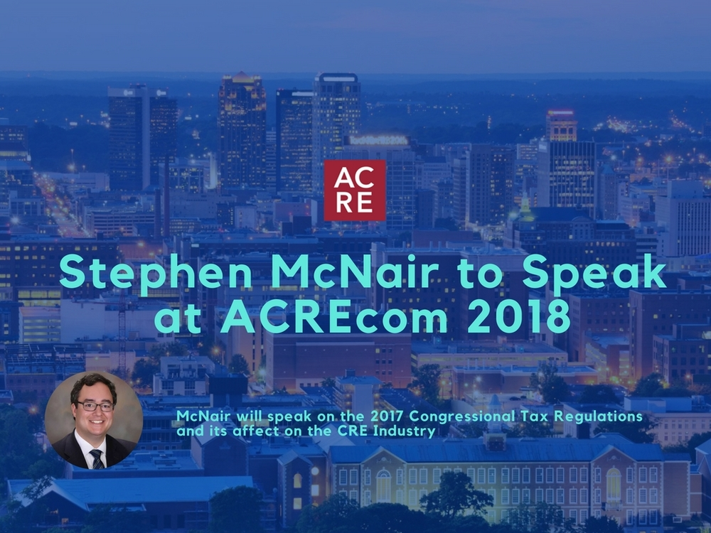 Stephen McNair to Speak at ACREcom 2018