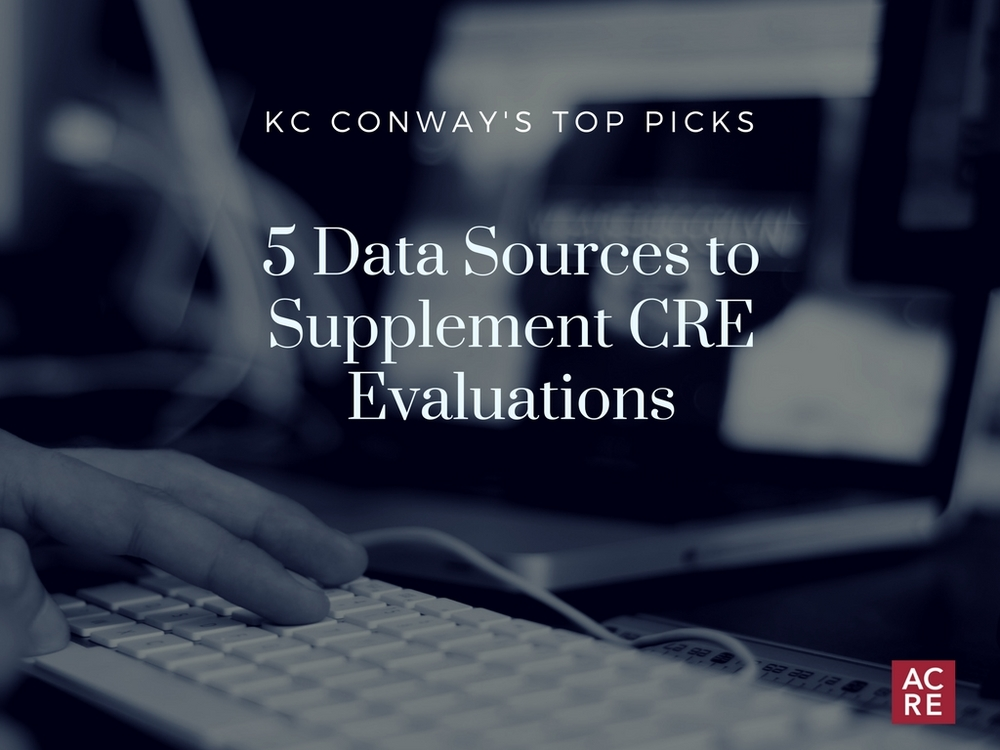 Five Data Sources to Supplement CRE Evaluations