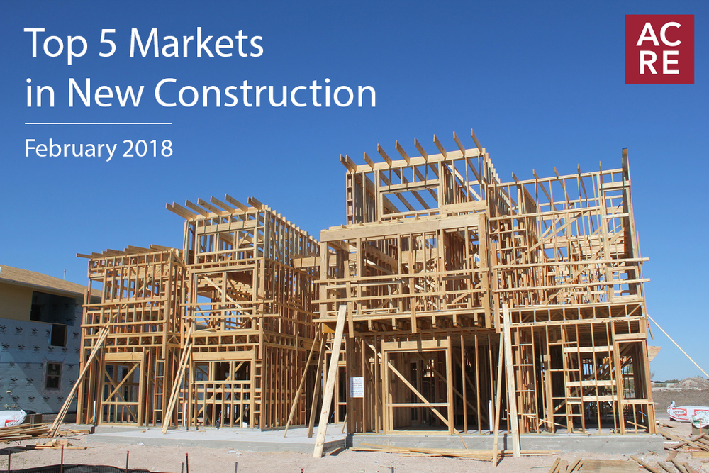 Top 5 Markets in New Construction during February