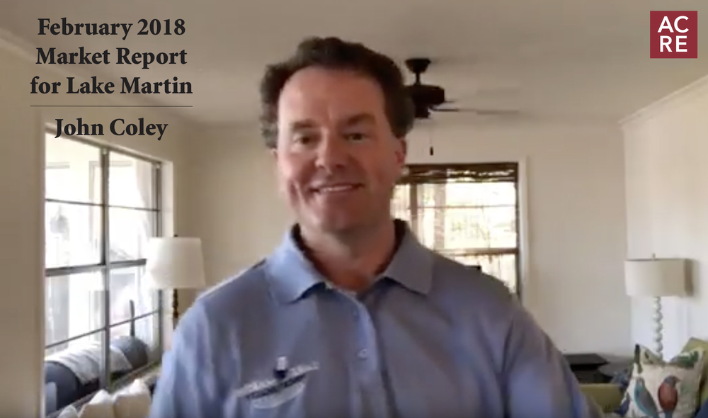 February 2018 Market Report for Lake Martin