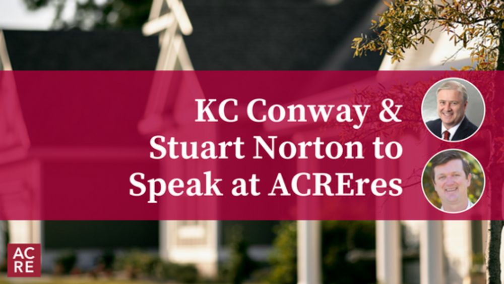 KC Conway and Stuart Norton to Speak at ACREres