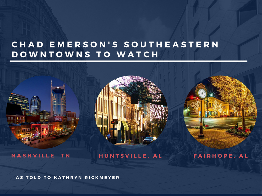 Chad Emerson's Southeastern Downtowns to Watch