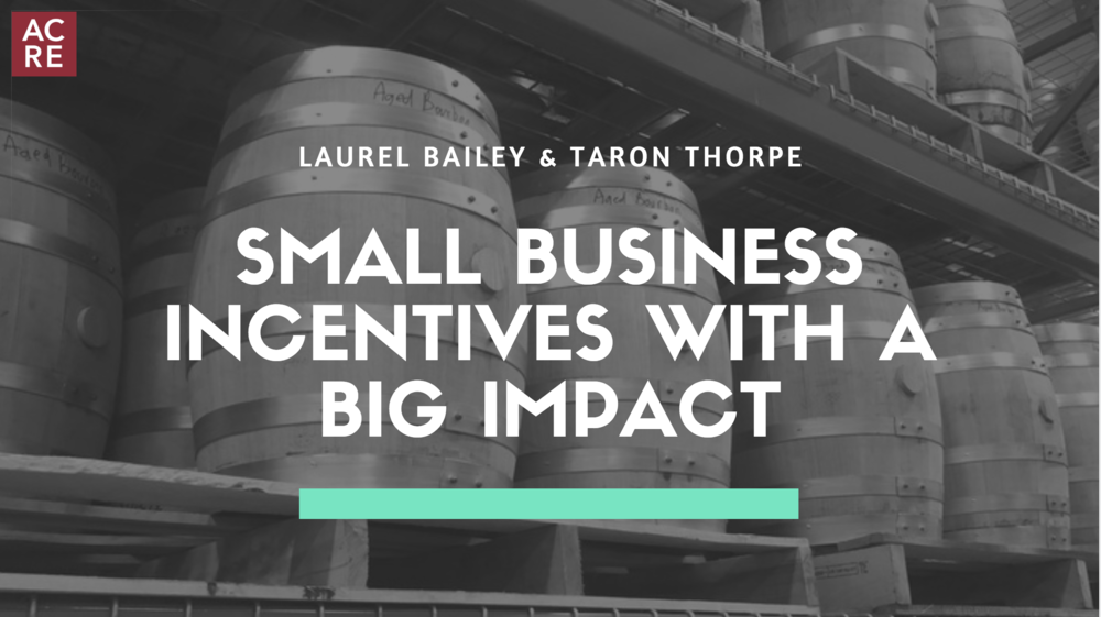 Small Business Incentives with a BIG Impact
