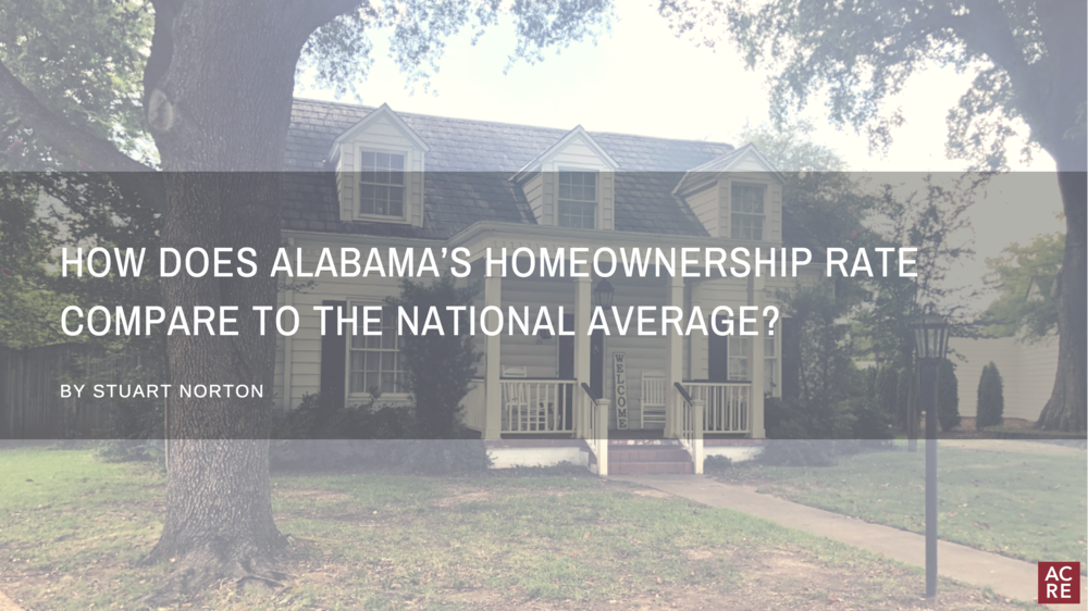 How Does Alabama's Homeownership Rate Compare to the National Average?