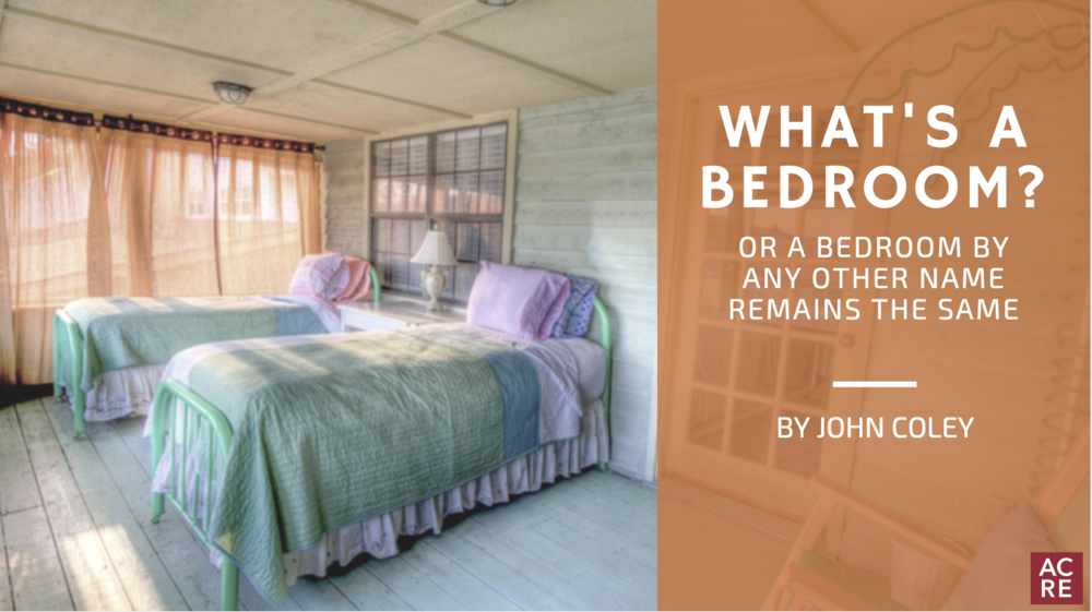 What's A Bedroom? Or a Bedroom by Any Other Name Remains the Same