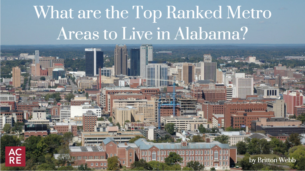 What are the Top Ranked Metro Areas to Live in Alabama?