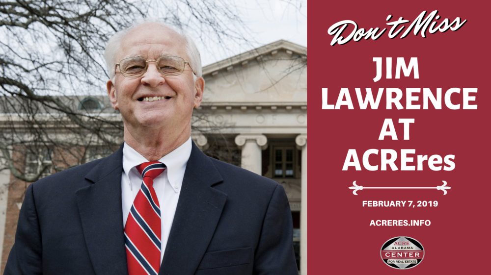 Jim Lawrence to Moderate Panel at ACREres 2019