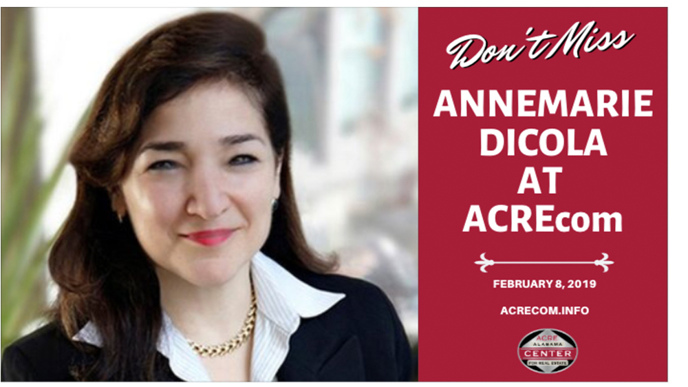Annemarie DiCola to Present Lunch Keynote Address at ACREcom