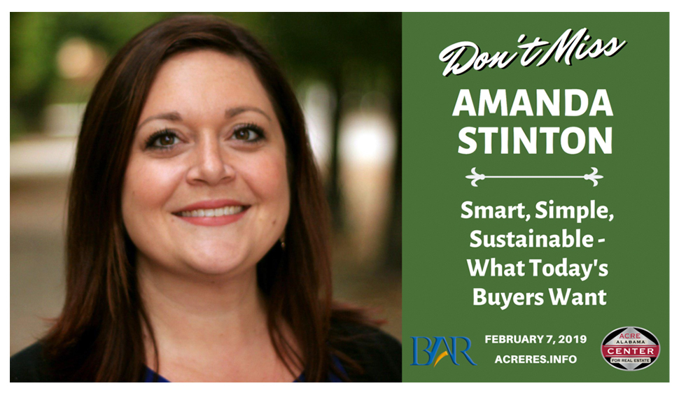 NAR's Amanda Stinton to Discuss Sustainability at the 3rd Annual Alabama Residential Real Estate Conference