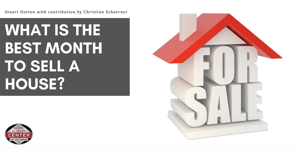 What Is the Best Month to Sell a House?
