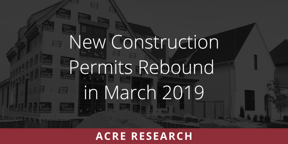 New Construction Permits Rebound in March