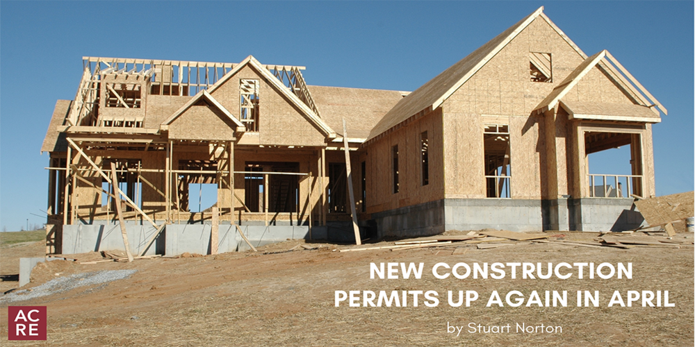 New Construction Permits Up Again in April