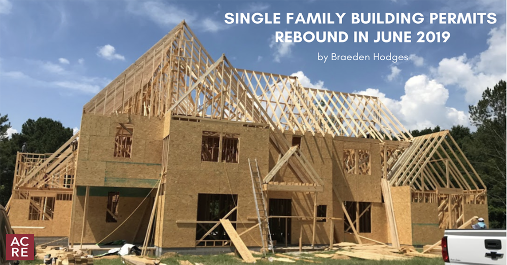 Single Family Building Permits Rebound in June