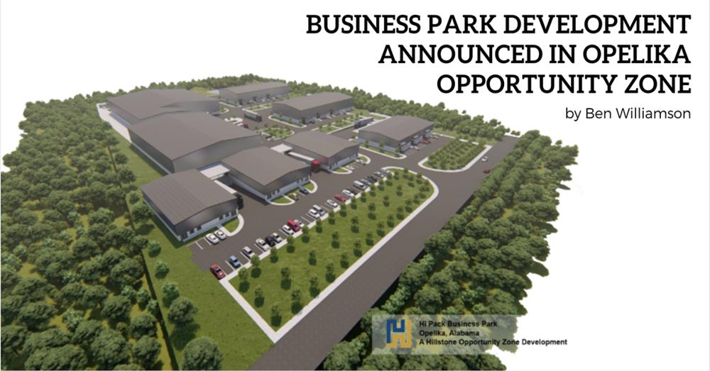Business Park Development Announced in Opelika Opportunity Zone
