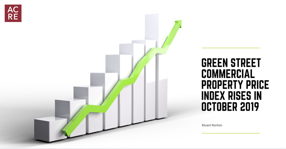 Green Street Commercial Property Price Index Rises in October 2019