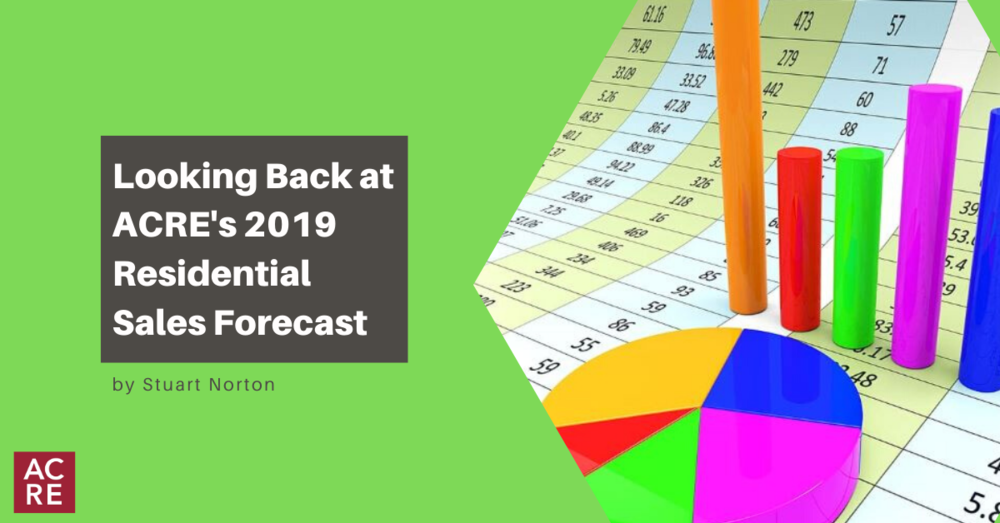 Looking Back at ACRE's 2019 Residential Sales Forecast
