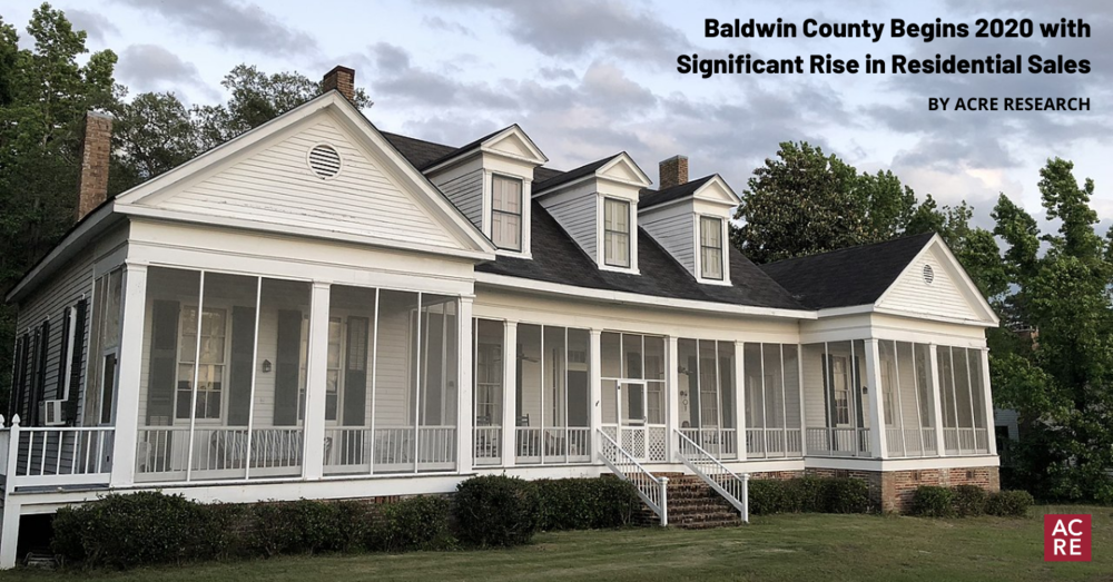 Baldwin County Begins 2020 with Significant Rise in Residential Sales