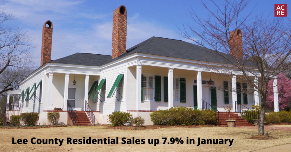 Lee County Residential Sales up 7.9% in January