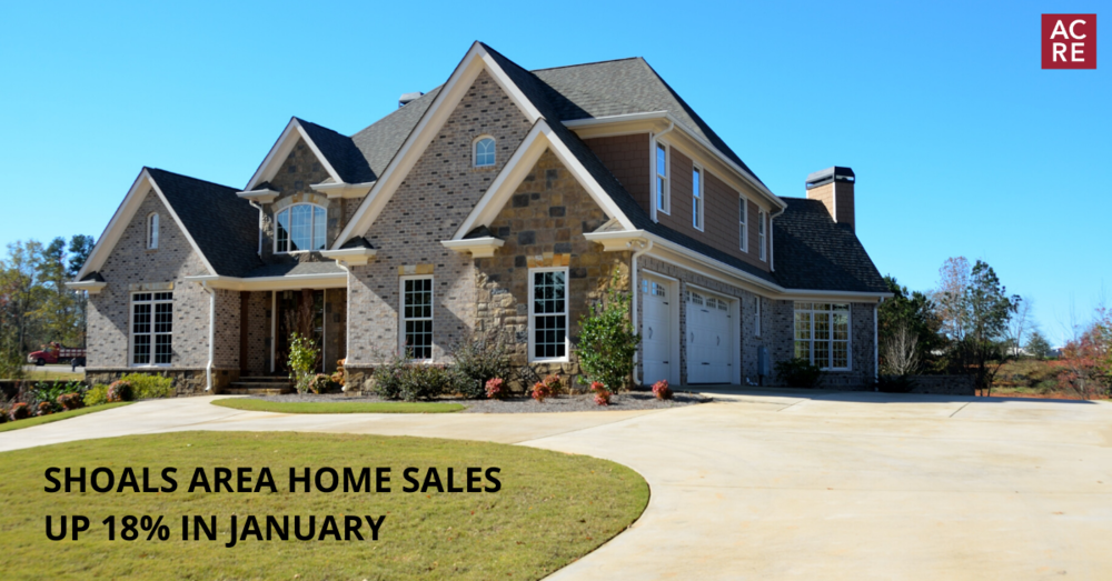 Shoals Area Residential Sales up 18% in January
