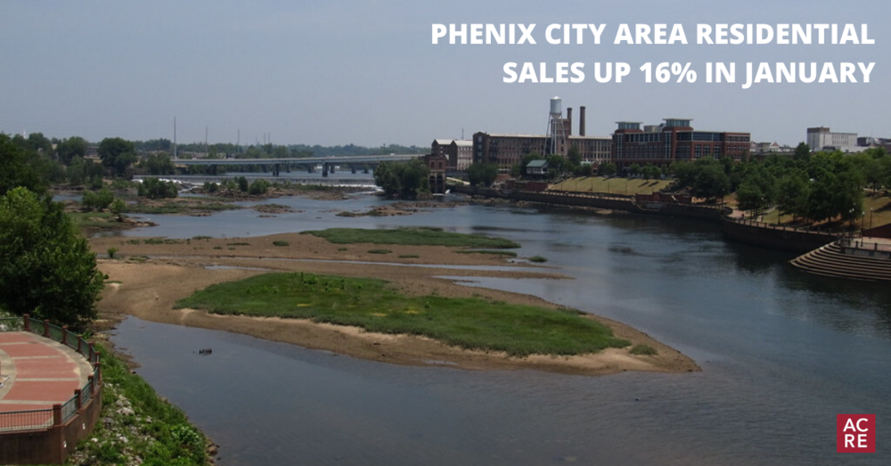 Phenix City Area Residential Sales up 16% in January