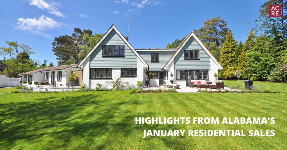 Highlights from Alabama's January 2020 Residential Sales
