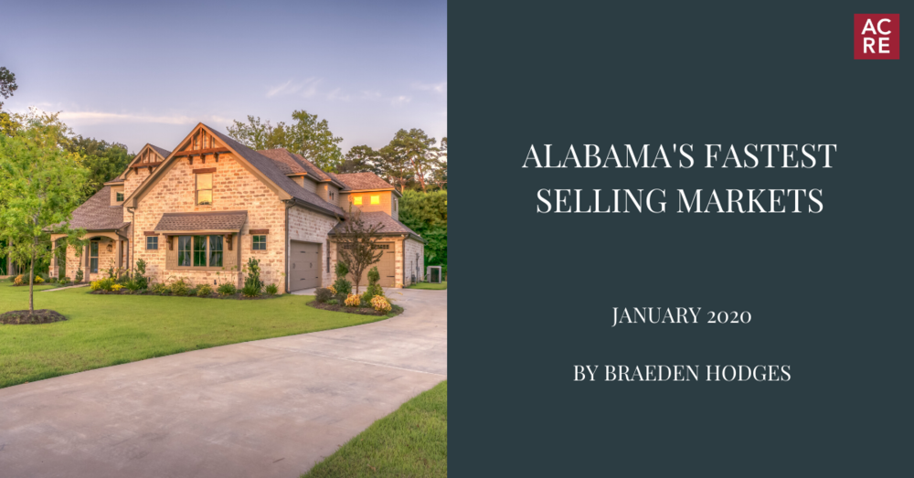 Alabama's Fastest Selling Markets in January 2020