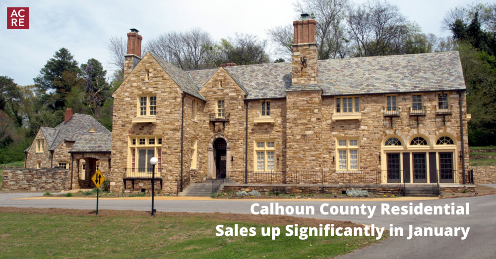 Calhoun County Residential Sales up Significantly in January