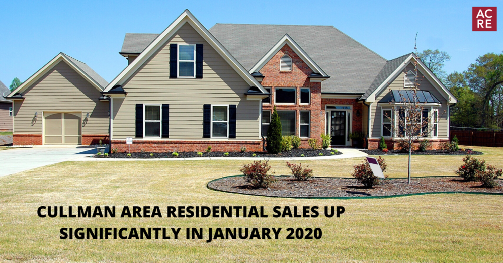 Cullman Area Residential Sales Up Significantly in January 2020