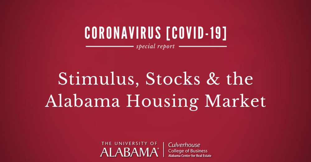 Stimulus, Stocks & the Alabama Housing Market