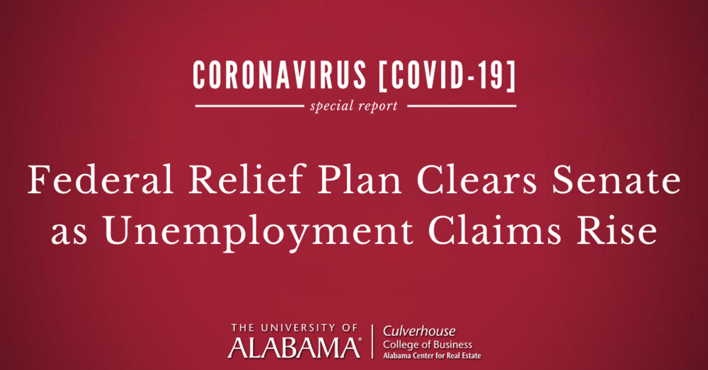 Federal Relief Plan Clears Senate as Unemployment Claims Rise
