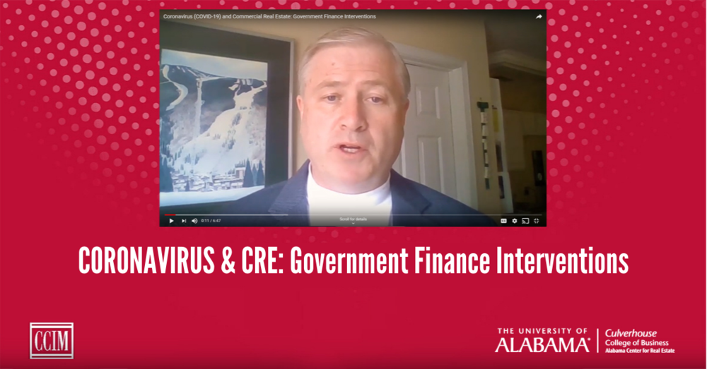 Coronavirus and CRE: Government Finance Interventions