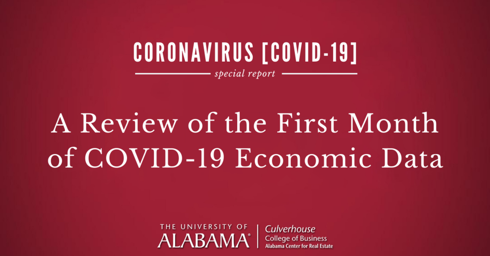 A look beneath the surface of the first month of COVID-19 economic data