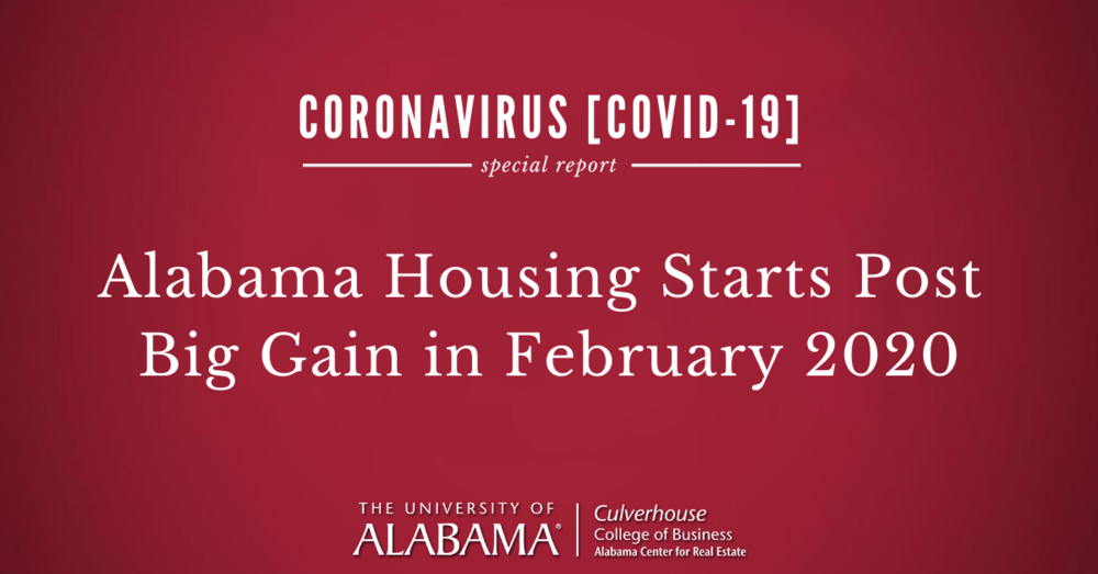 Alabama housing starts post big gain in February 2020