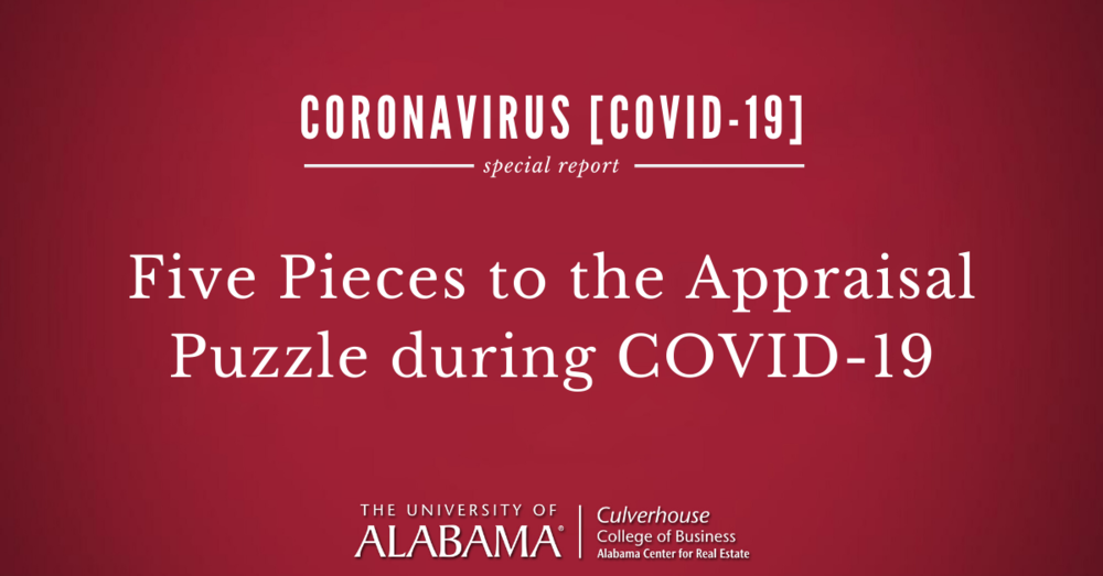 Five pieces to the appraisal puzzle during COVID-19