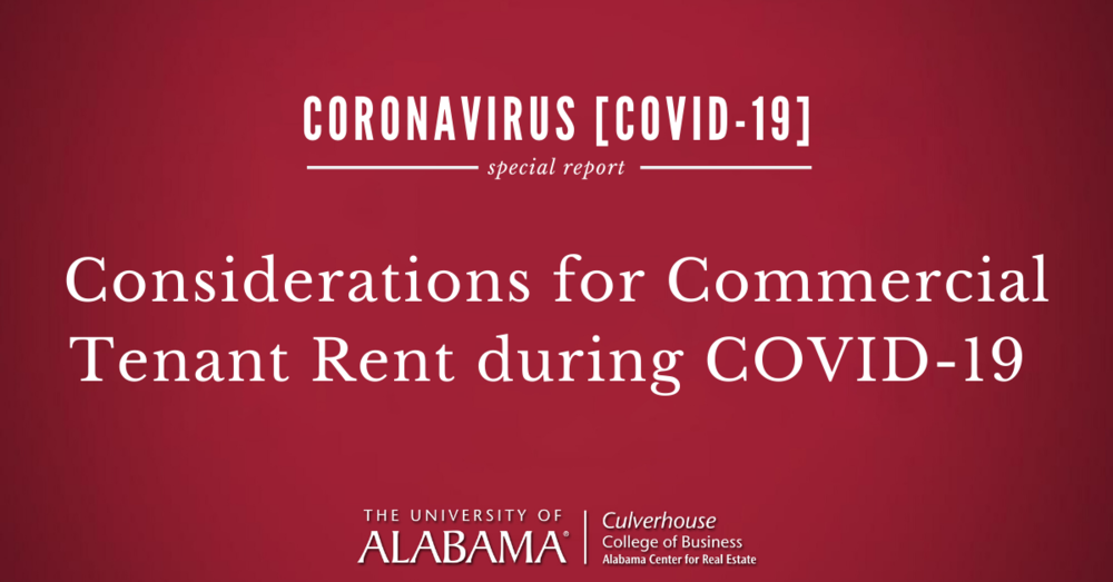 Considerations for commercial tenant rent during COVID-19 with David Skinner