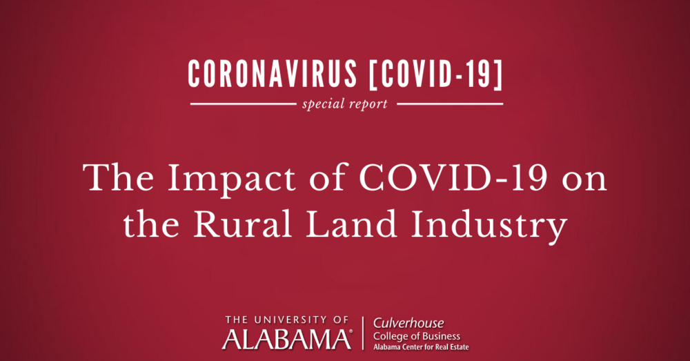 The impact of COVID-19 on the rural land industry