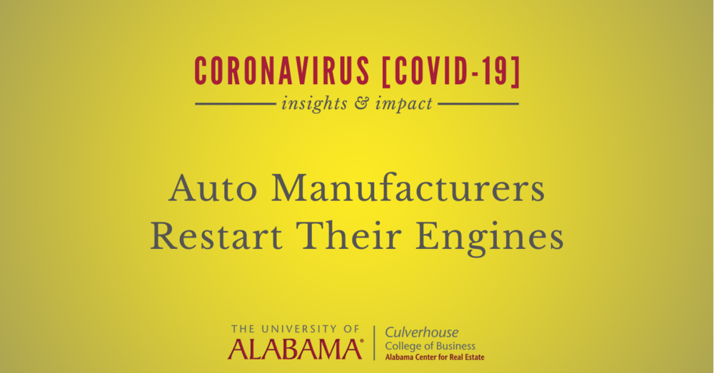 Auto manufacturers restart their engines