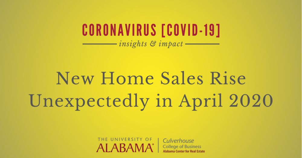 New home sales rise unexpectedly in April 2020