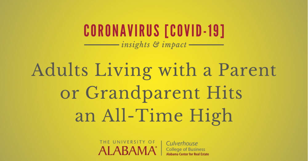 Adults living with a parent or grandparent hits an all-time high