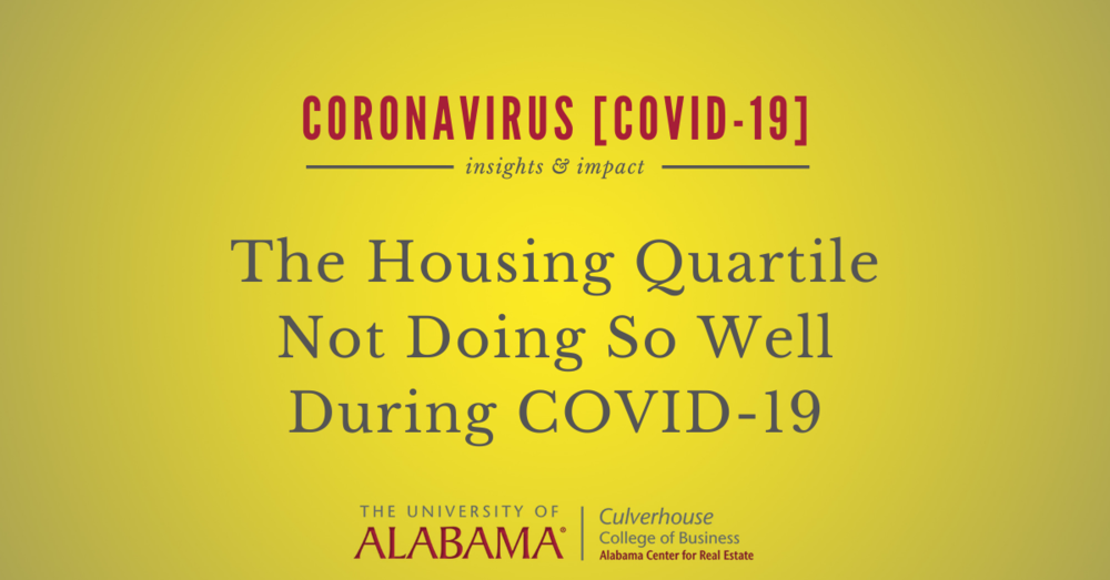The housing quartile not doing so well during COVID-19