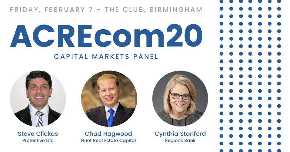 All-Star Panel of Alabama Real Estate Capital Experts Discuss Industry's Future at ACREcom 2020