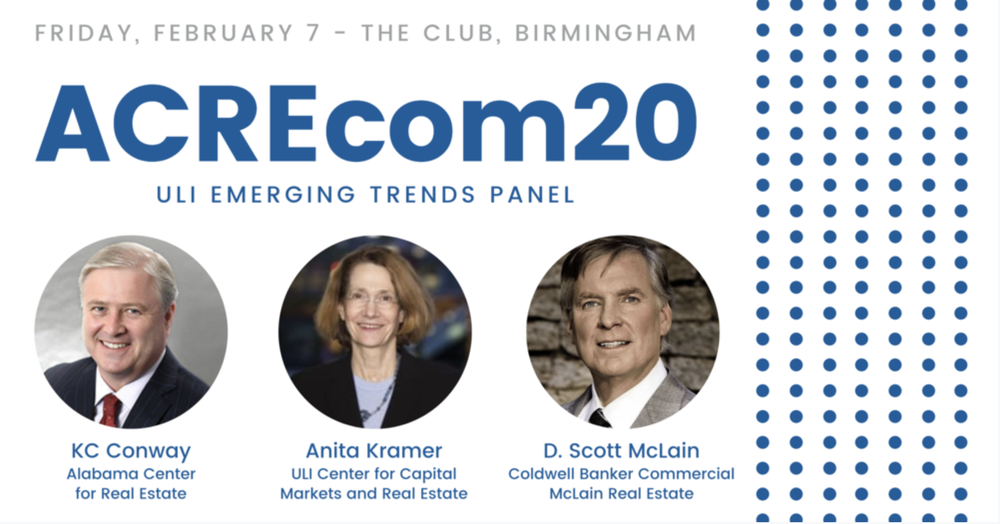 ULI Emerging Trends Panel to Discuss Recent Report at ACREcom 2020