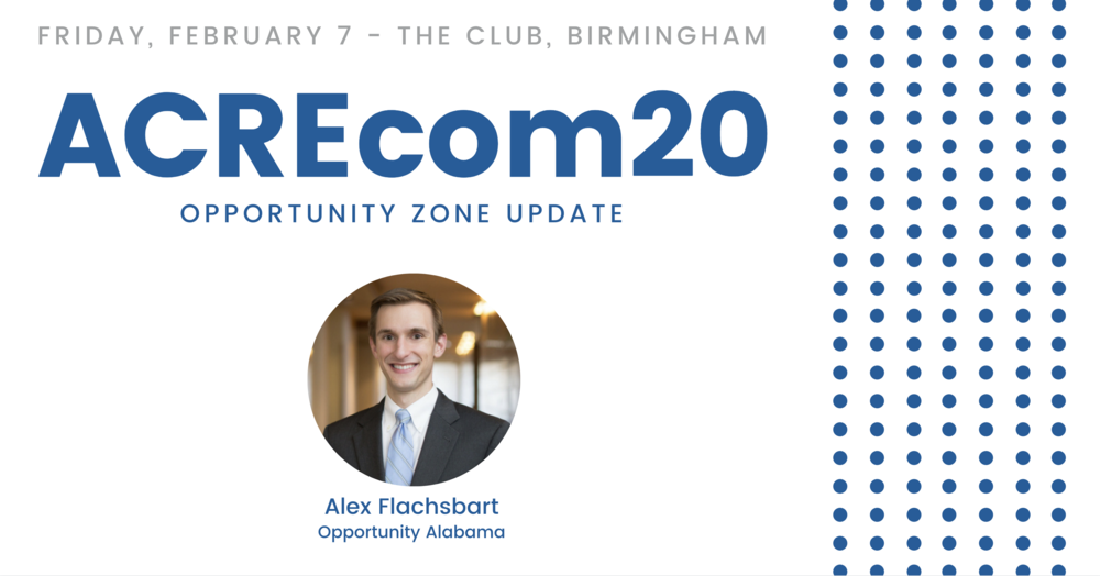 Alex Flachsbart Returns to ACREcom20 with Opportunity Zones Updates