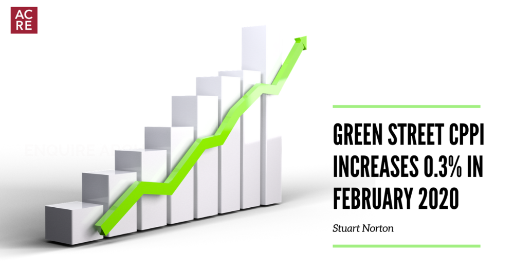Green Street CPPI Increases 0.3% in February 2020